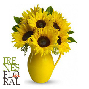 Teleflora's sunny Day Pitcher of Sunflowers  T153-1A