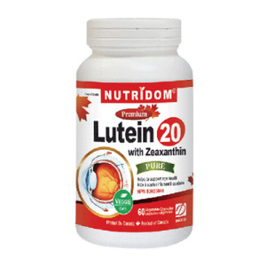 Nutridom Lutein 20 with Zeaxanthin 22mg 60Vcaps